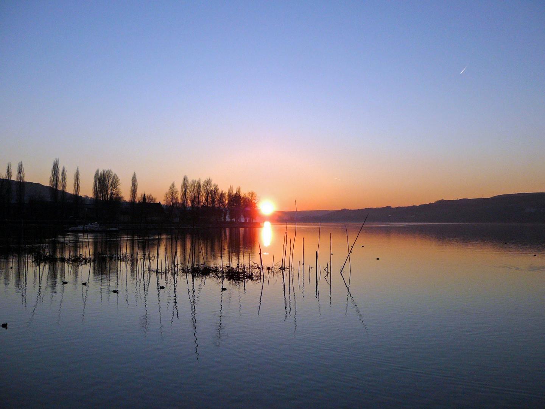 Steckborn bei Sonneuntergang