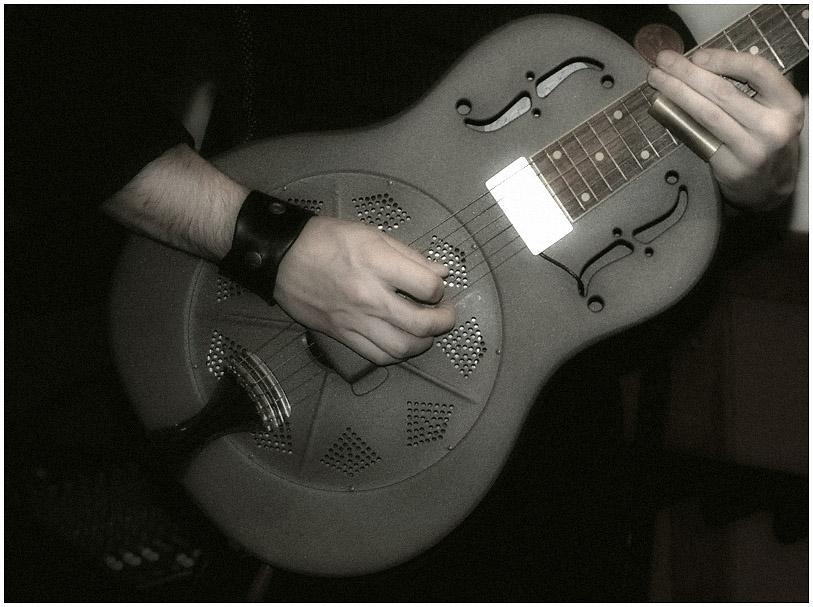 steel guitar detail
