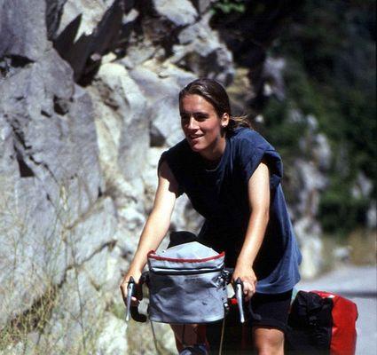Steffi auf dem Weg zum Gipfel