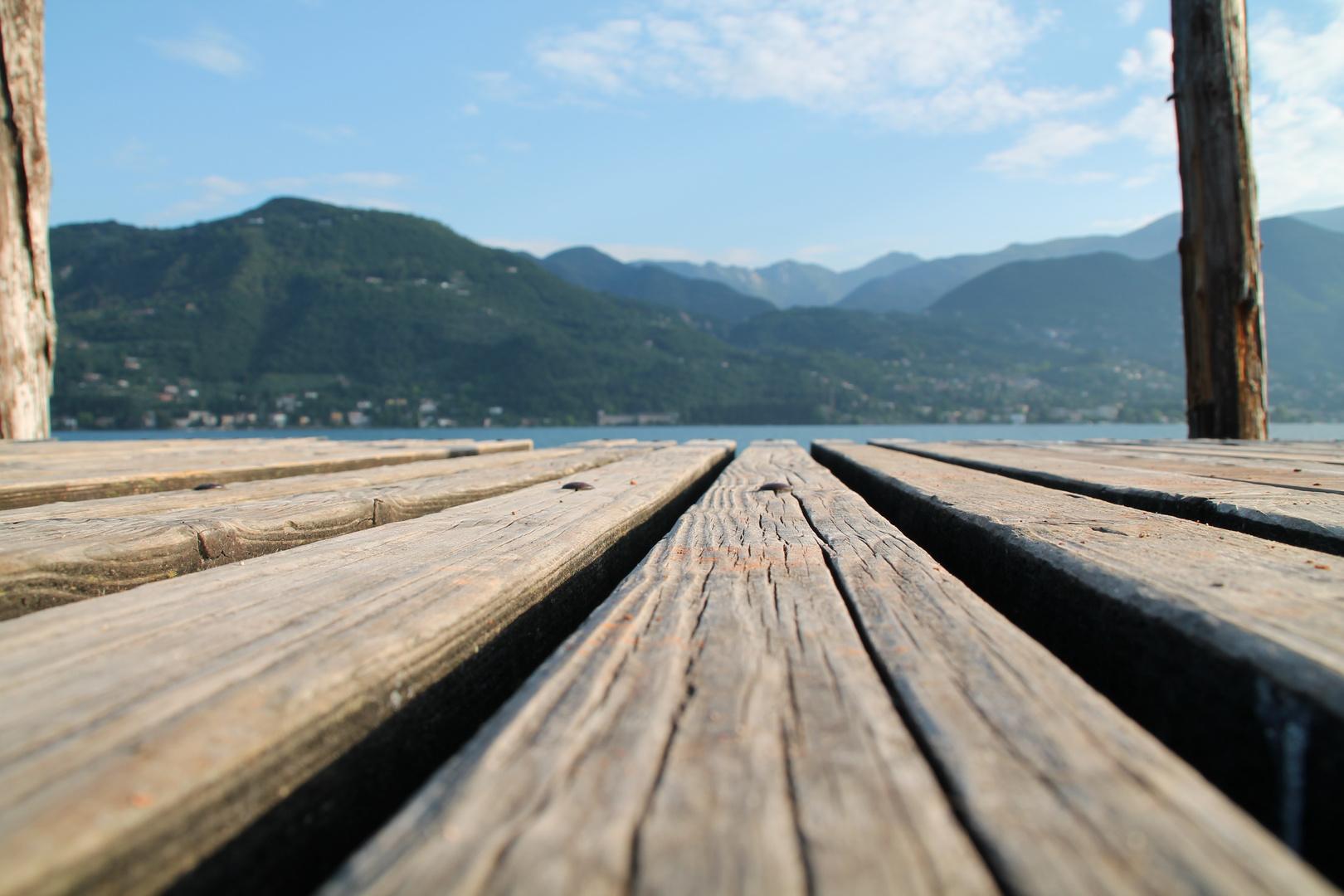 Steg am Gardasee