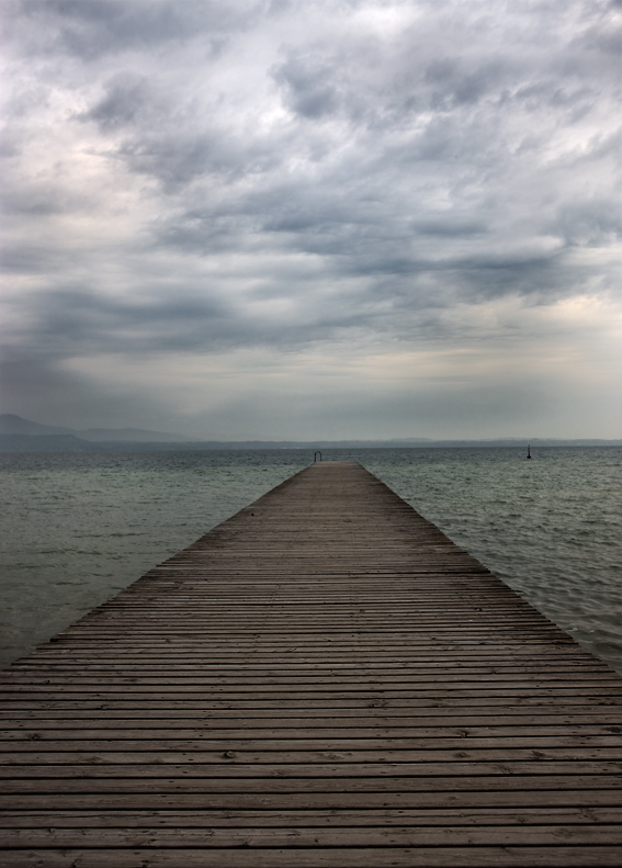 Steg am Lago die Garda
