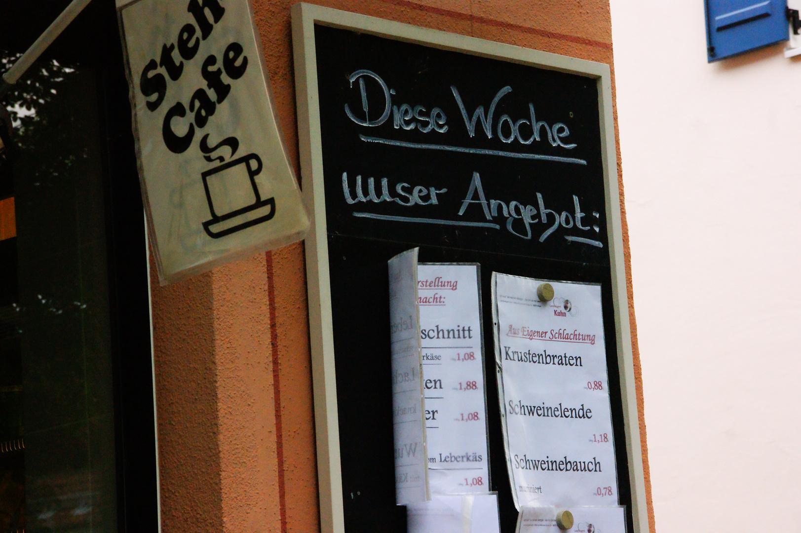 Stehcafe und Krustenbraten