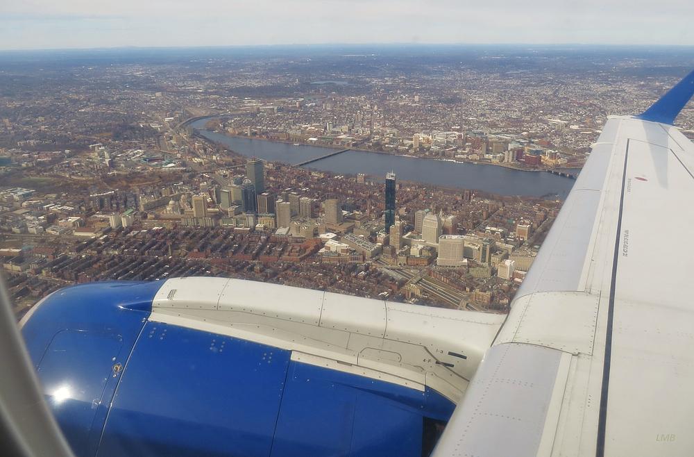 Steigflug über Boston