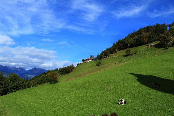 Steilhang über Brixen