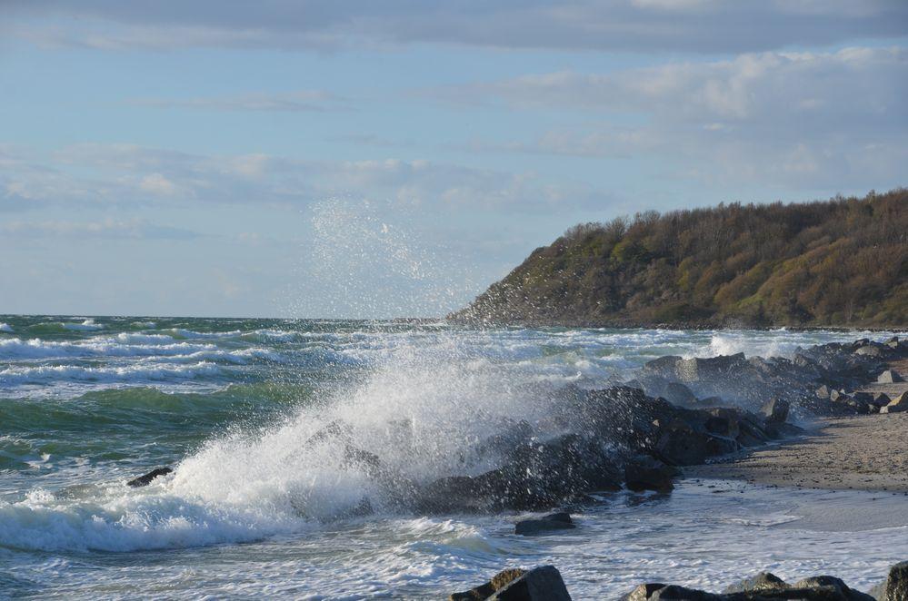 Steilküste und Wind