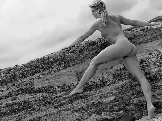 Steilwand-Akrobatin...