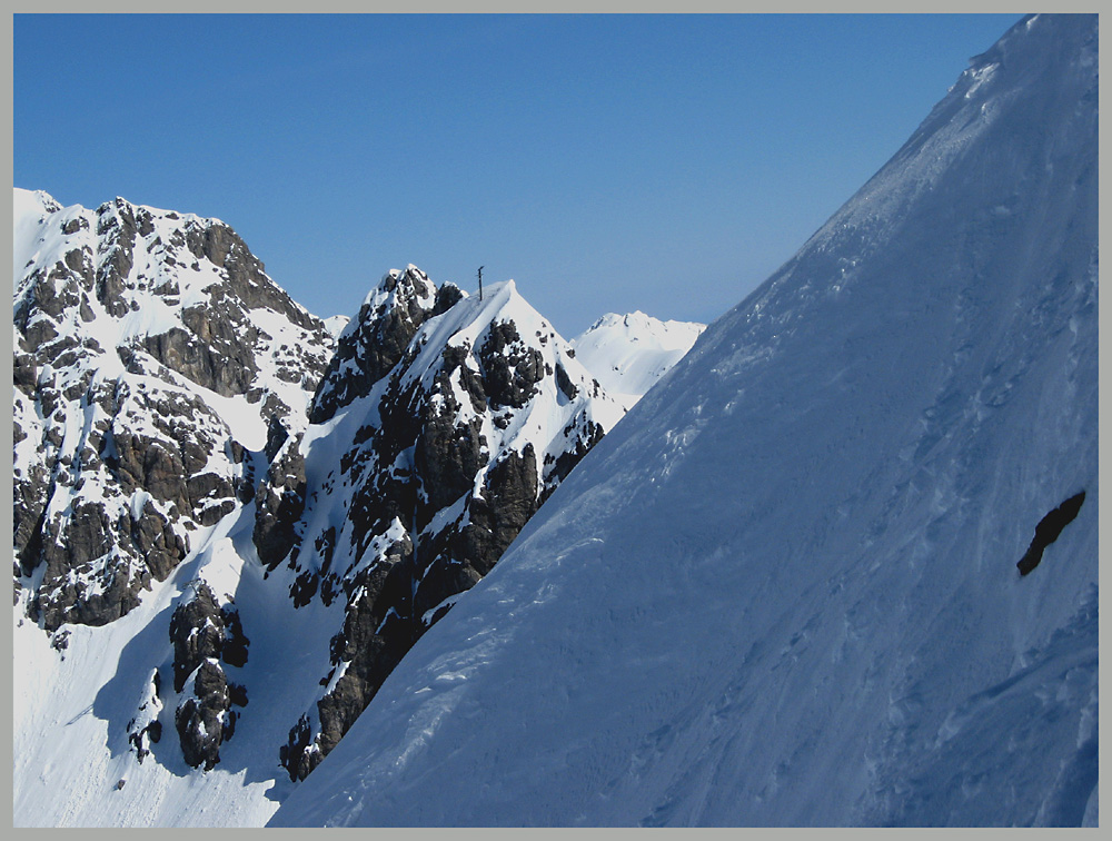 Steilwand gegenüber Valluga