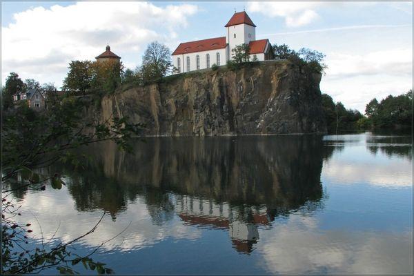 Steinbruch-See in Beucha (bei Leipzig)