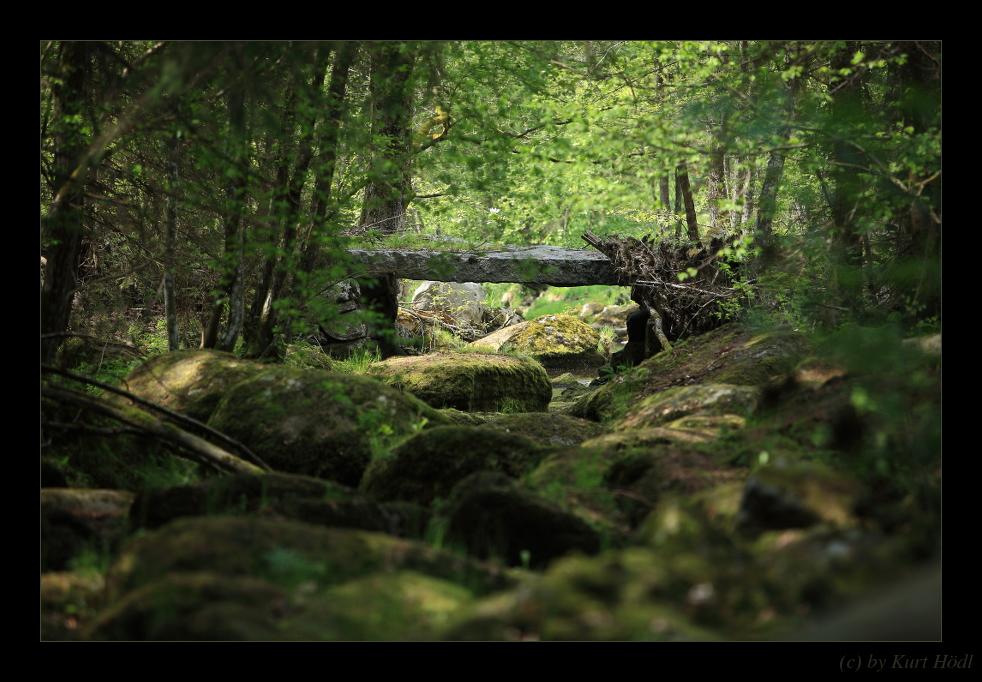 """Steinbrücke über die """"Steinerne Mühl""""..."""