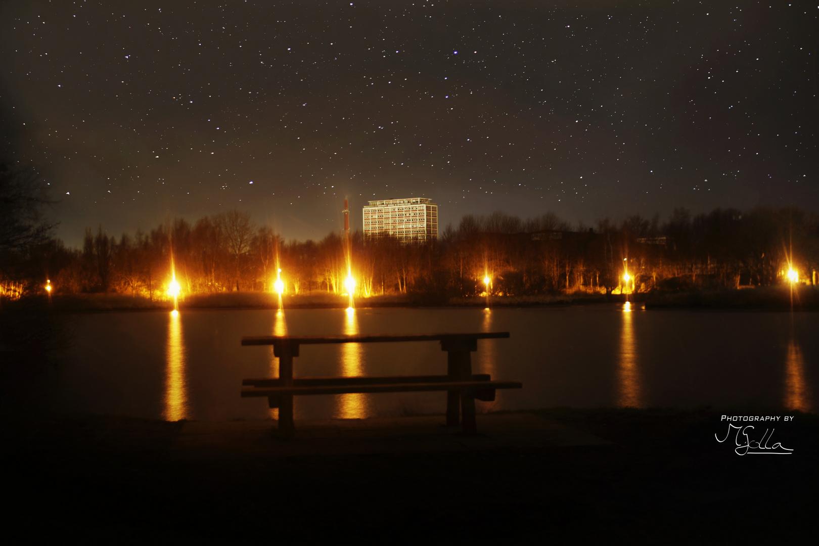 Steindammpark bei Nacht