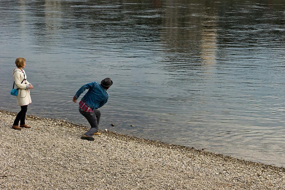 Steine hüpfen lassen
