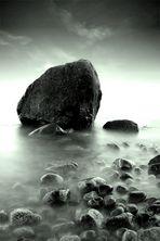 Steine im Nebel