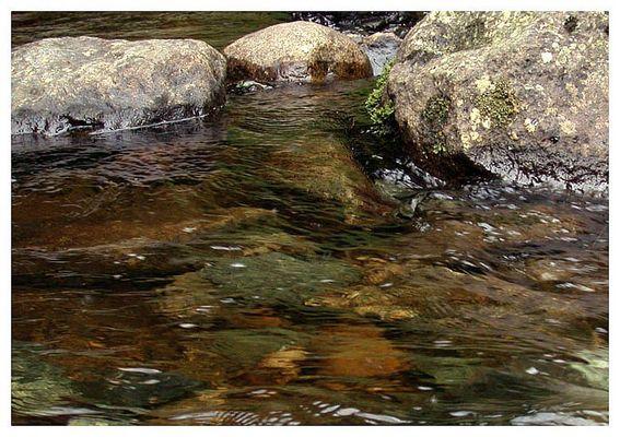 Steine über/unter Wasser