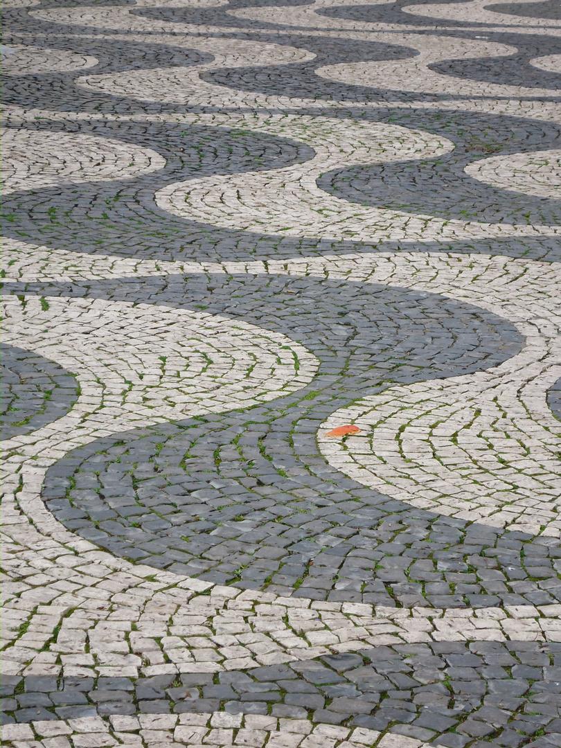 Steinere Wellen Rossio - Lissabon