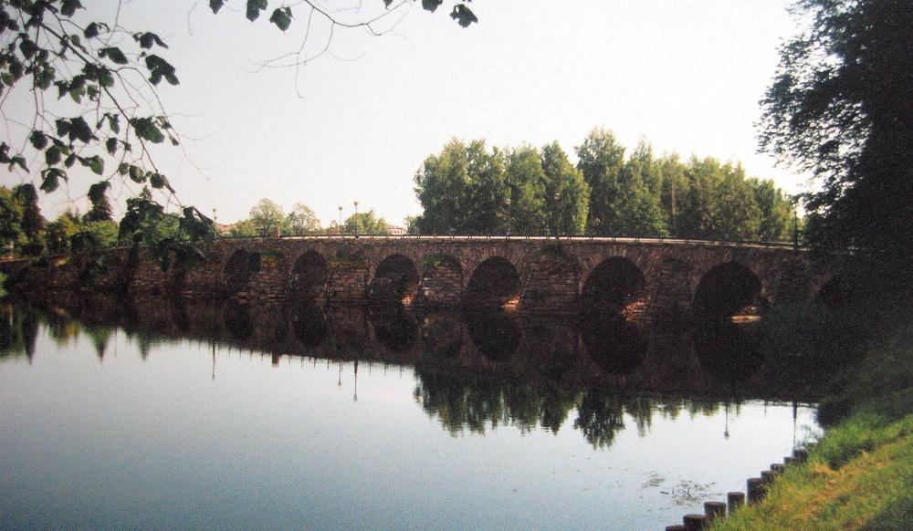 Steinerne Brücke bei Karlstad am Vänern