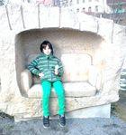 Steinernes Sofa