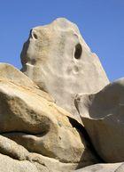 Steinformation am Capo Testa, Sardinien