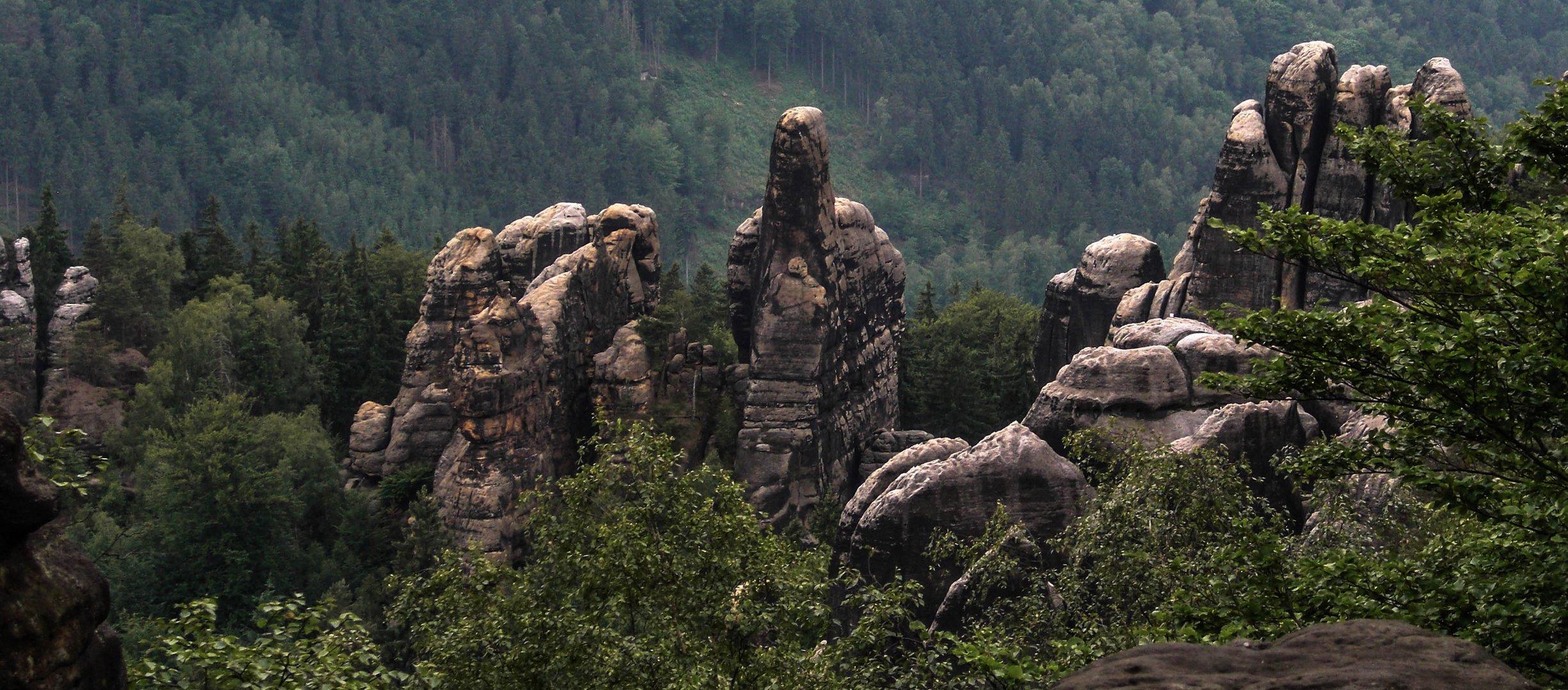 Steinformation in der Sächsischen Schweiz