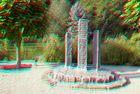 Steingarten 2 (rot/cyan Anaglyphenbild)