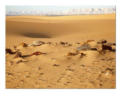 Steinige Wüste bei Oase Dakla