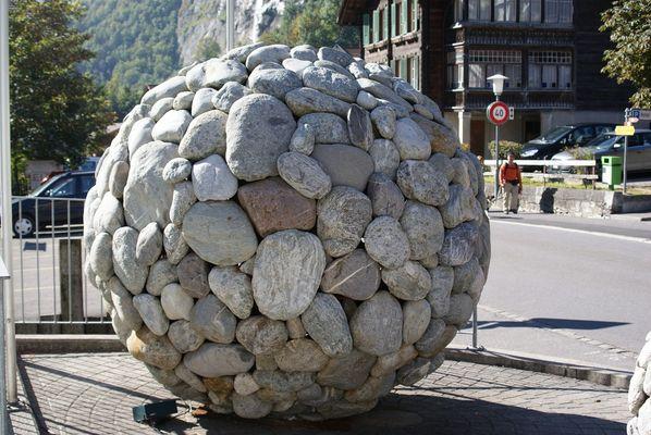 Steiniges Kunstwerk