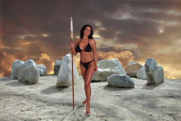 Steinkreis mit Amazone