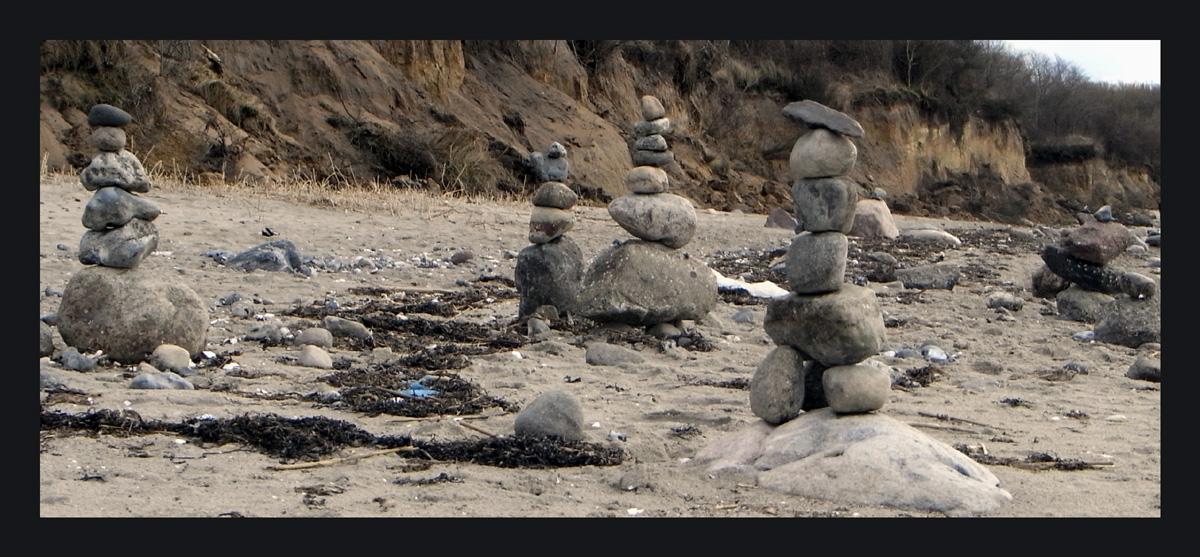 Steinkunst am Ostseestrand....