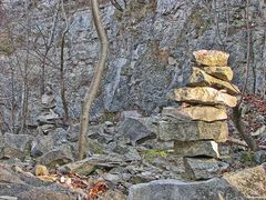 Steinkunst im Steinbruch