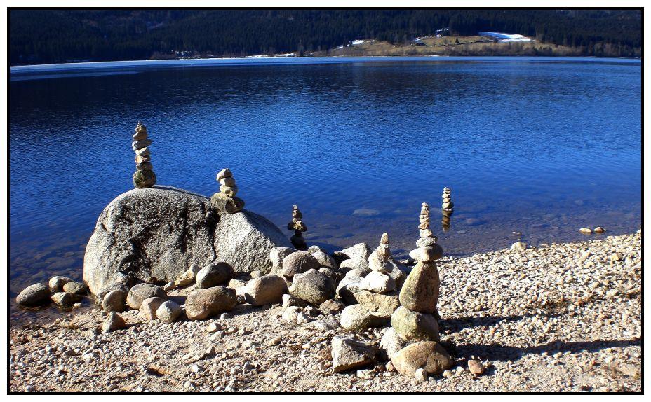 Steinmännchen am Schluchsee