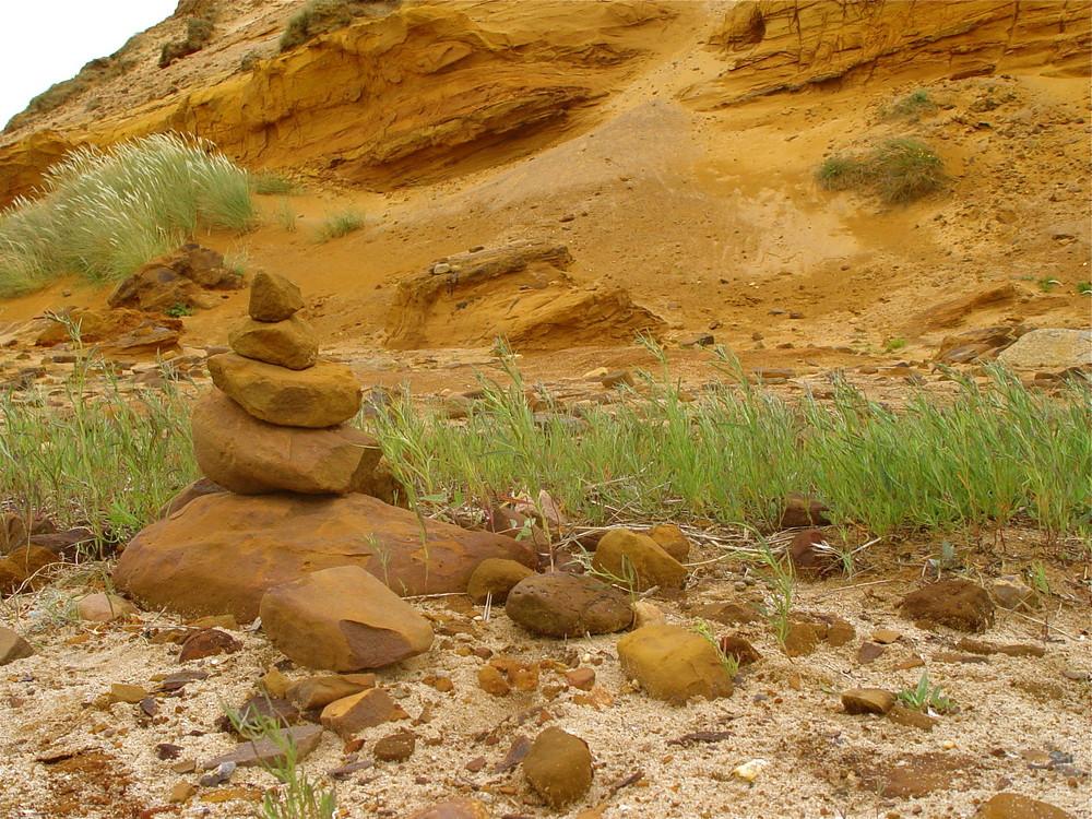 Steinmännchen vom Morsumkliff