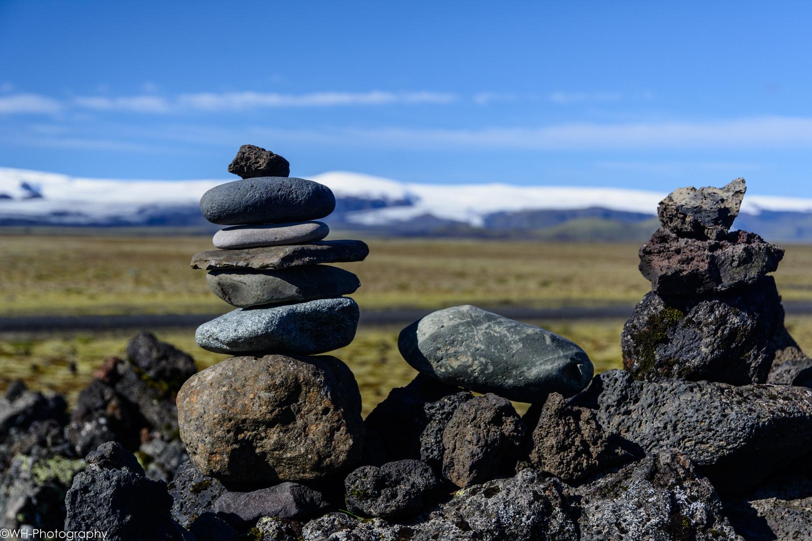 Steinmännchen vor Gletscher