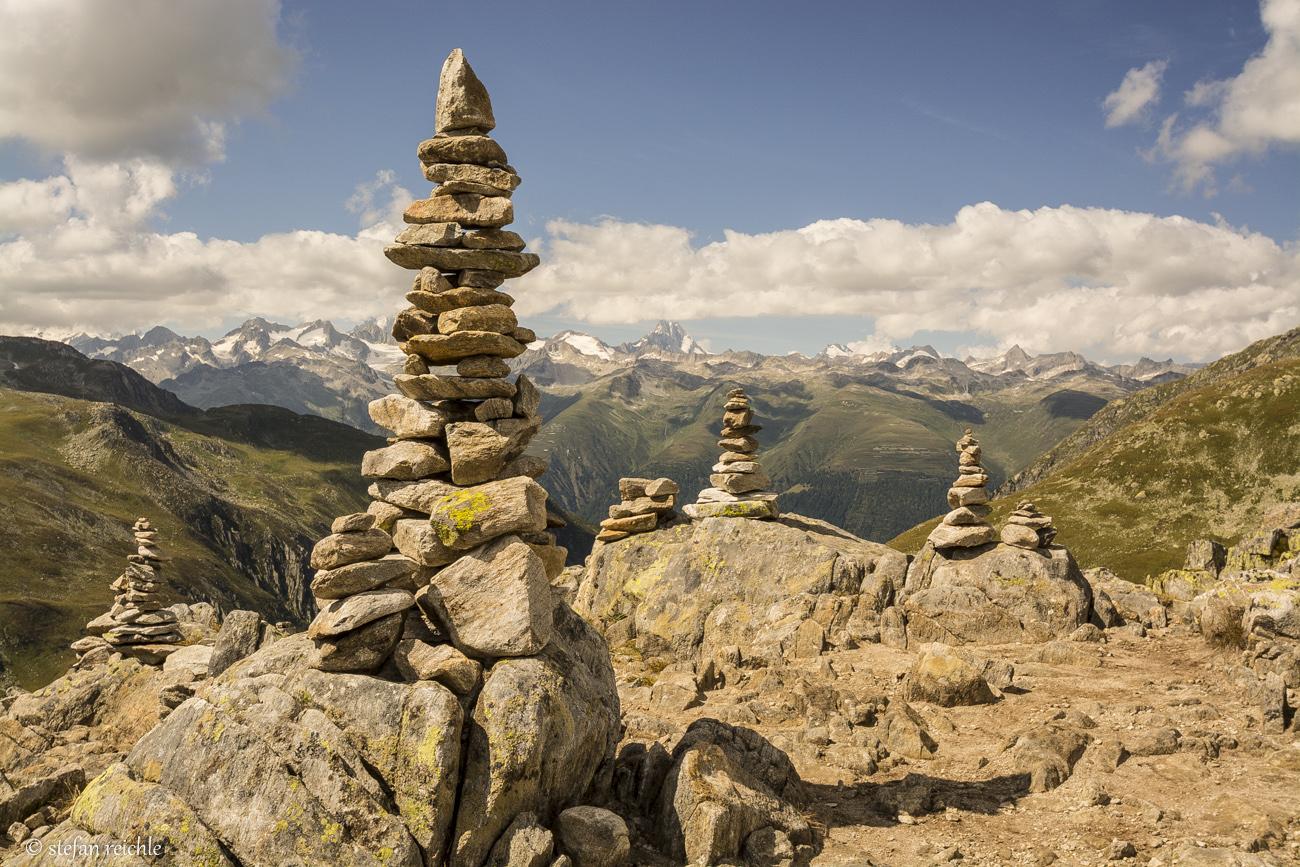 Steinmännle am Nufenenpass