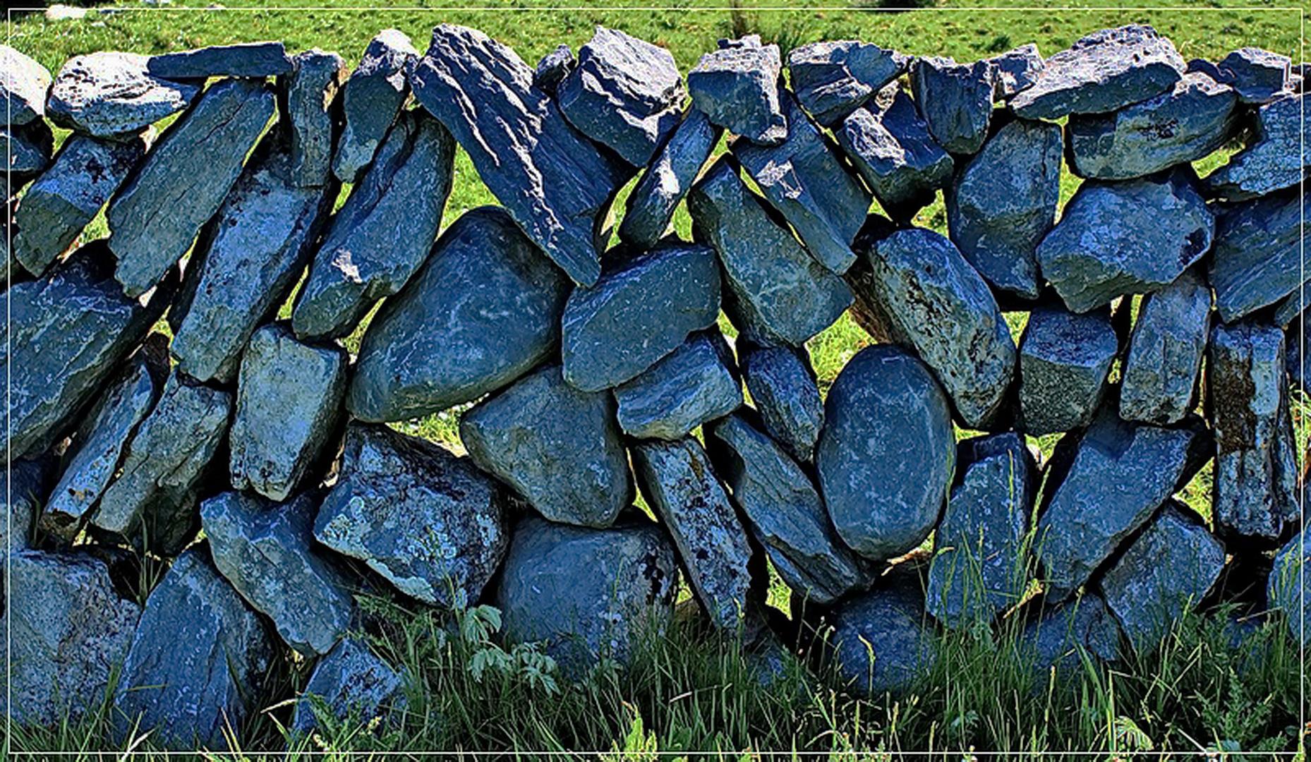 Steinmauer im Burren