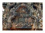 Steinrelief im Tempel Banteay Srei