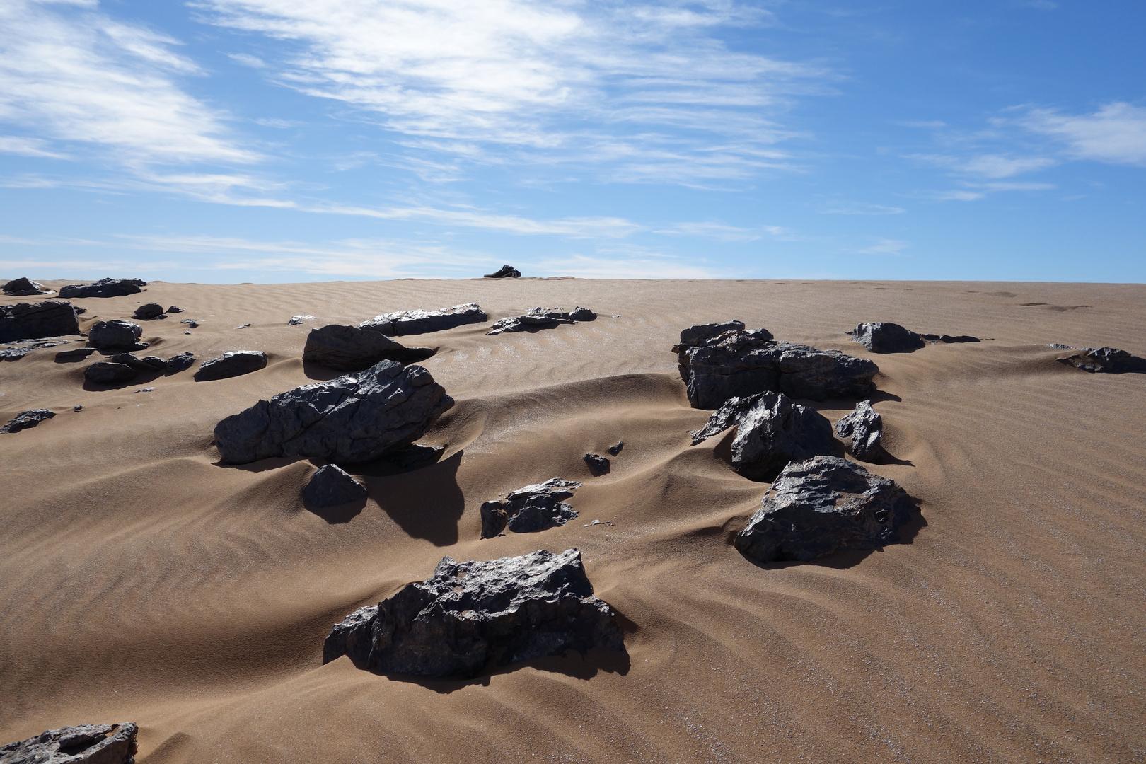 Steinwüste in Marocco