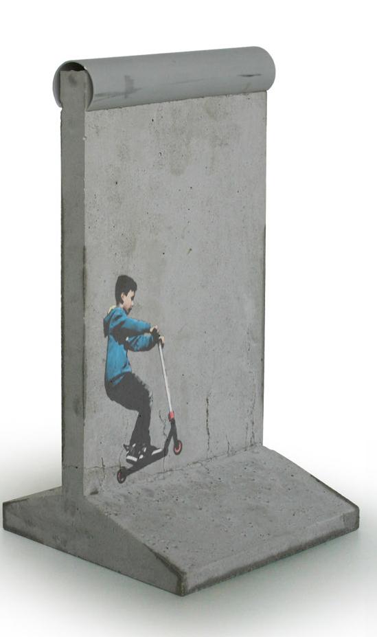 Stencil auf der Mauer