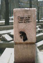 Stencilled graffiti !!