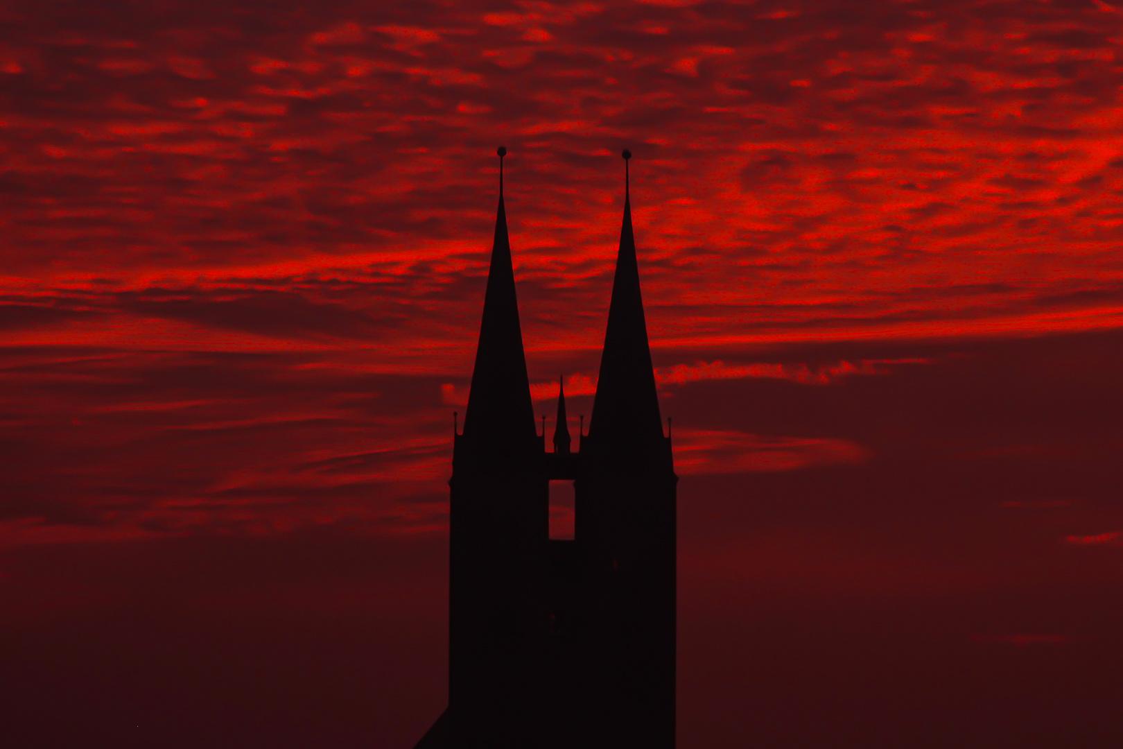 Stendal - Himmel über Marienkirche 6