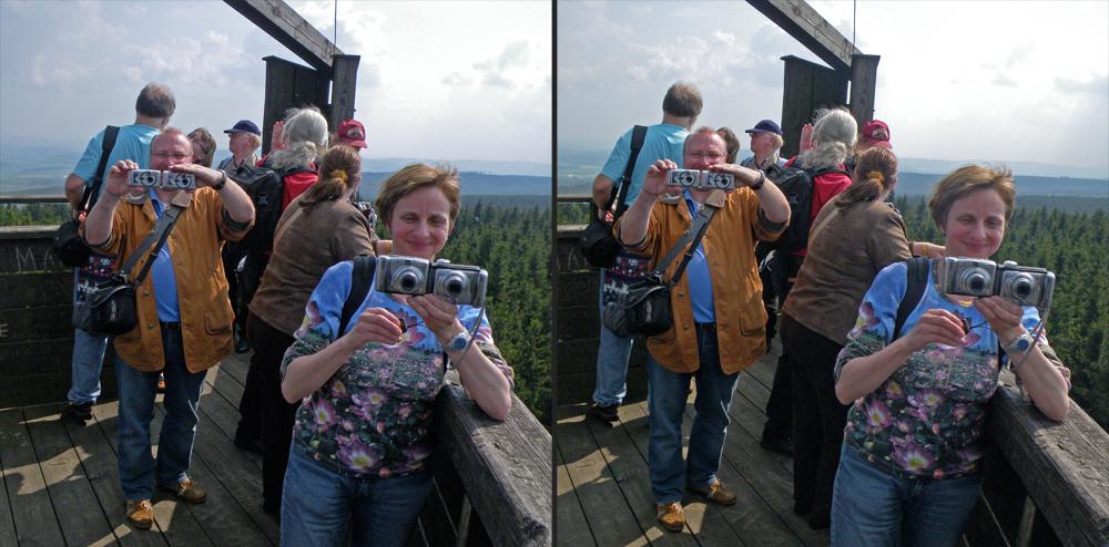 Stereotypen auf dem Idarkopf-Aussichtsturm