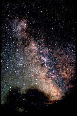 Sternbild Schütze über Griechenland