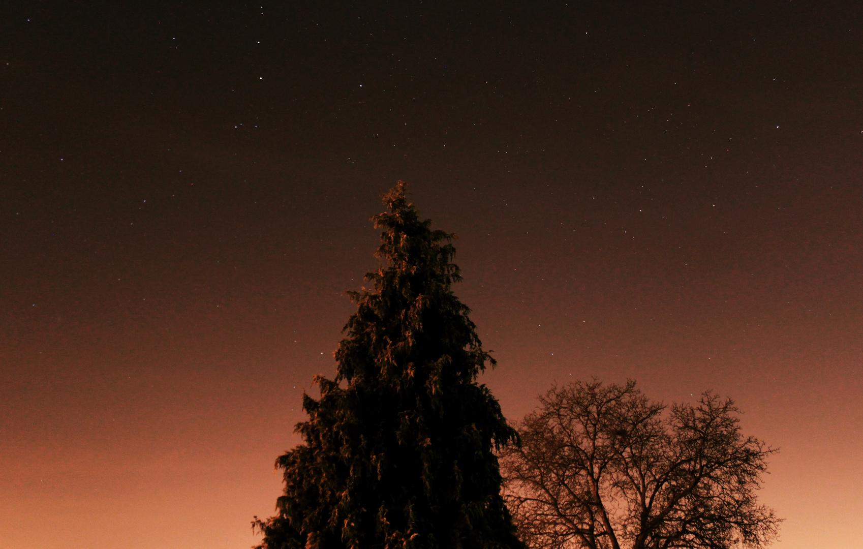 Sterne am Abendhimmel