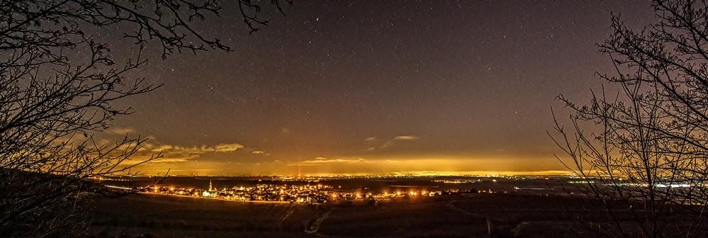 Sterne über Leistadt.....Lichtverschmutzung über MA + LU