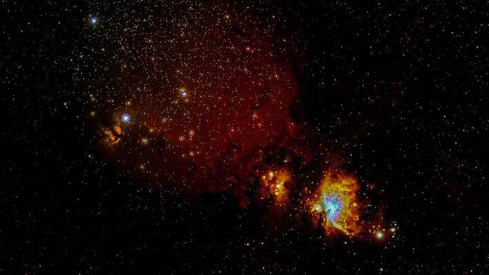 Sternenentehungsgebiet Orion (Widefield Aufnahme)