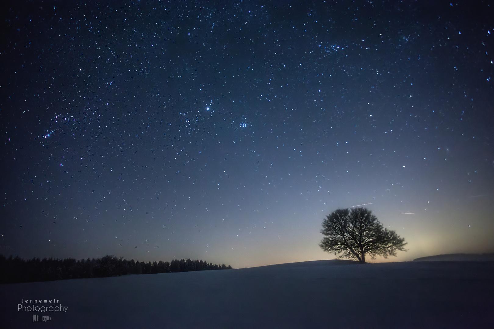 Sternenhimmel auf der Schwäbischen Alb.