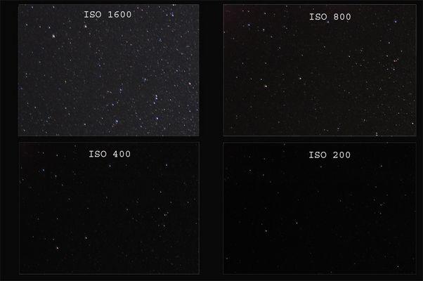 Sternenhimmel bei ISO 200 - 1600!