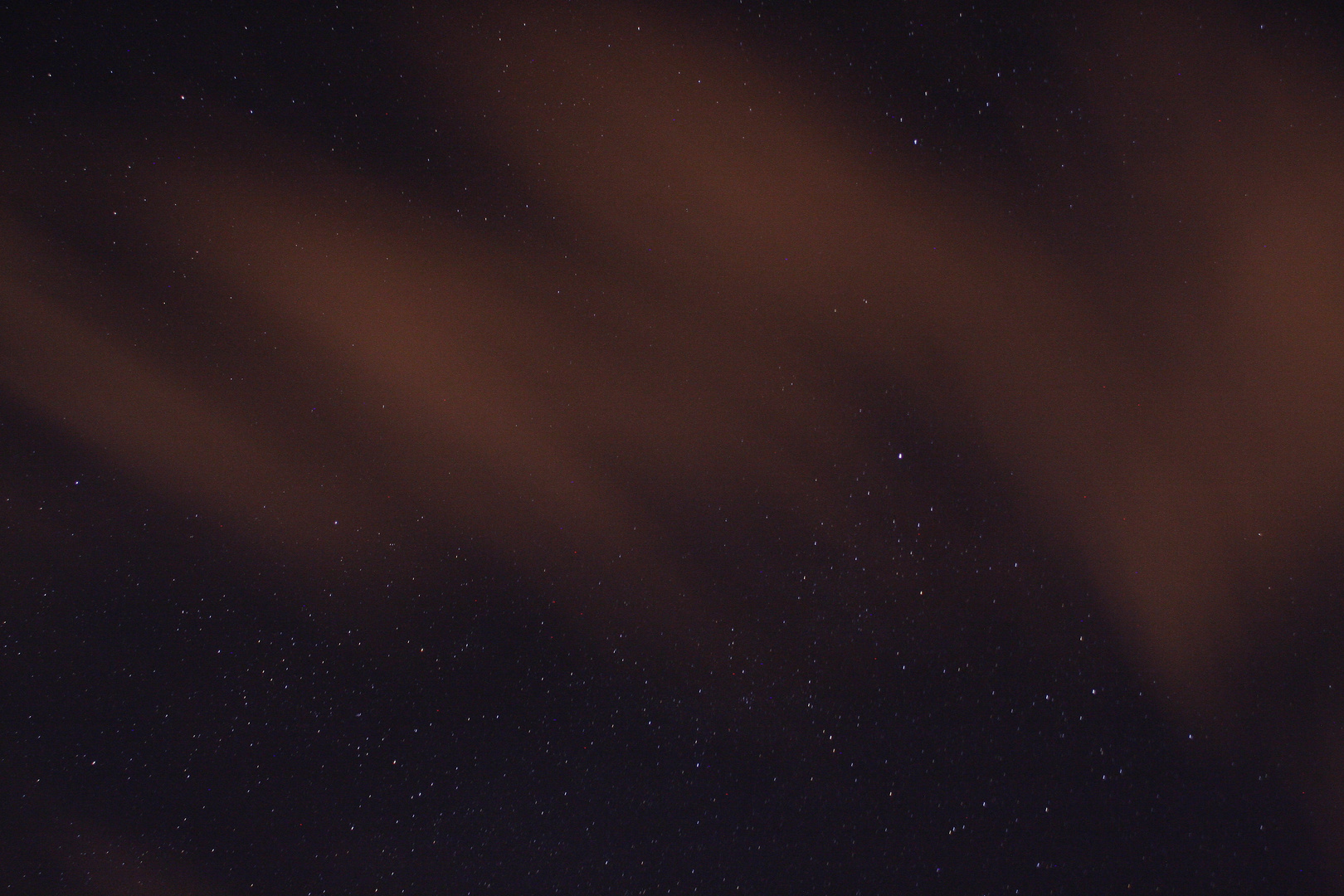 Sternenhimmel mit Schleierwolken