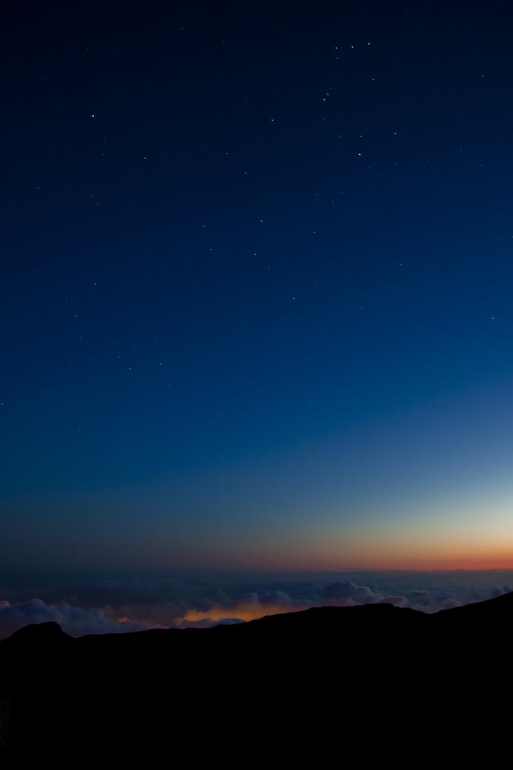 Sternenhimmel über dem Pico do Arieiro
