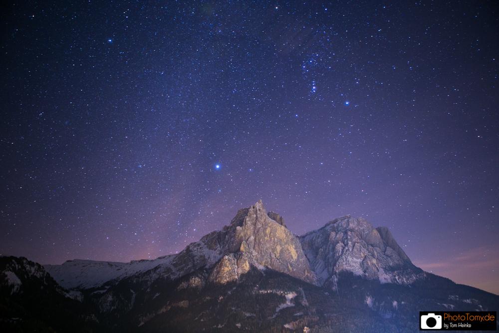 Sternenhimmel über dem Schlern