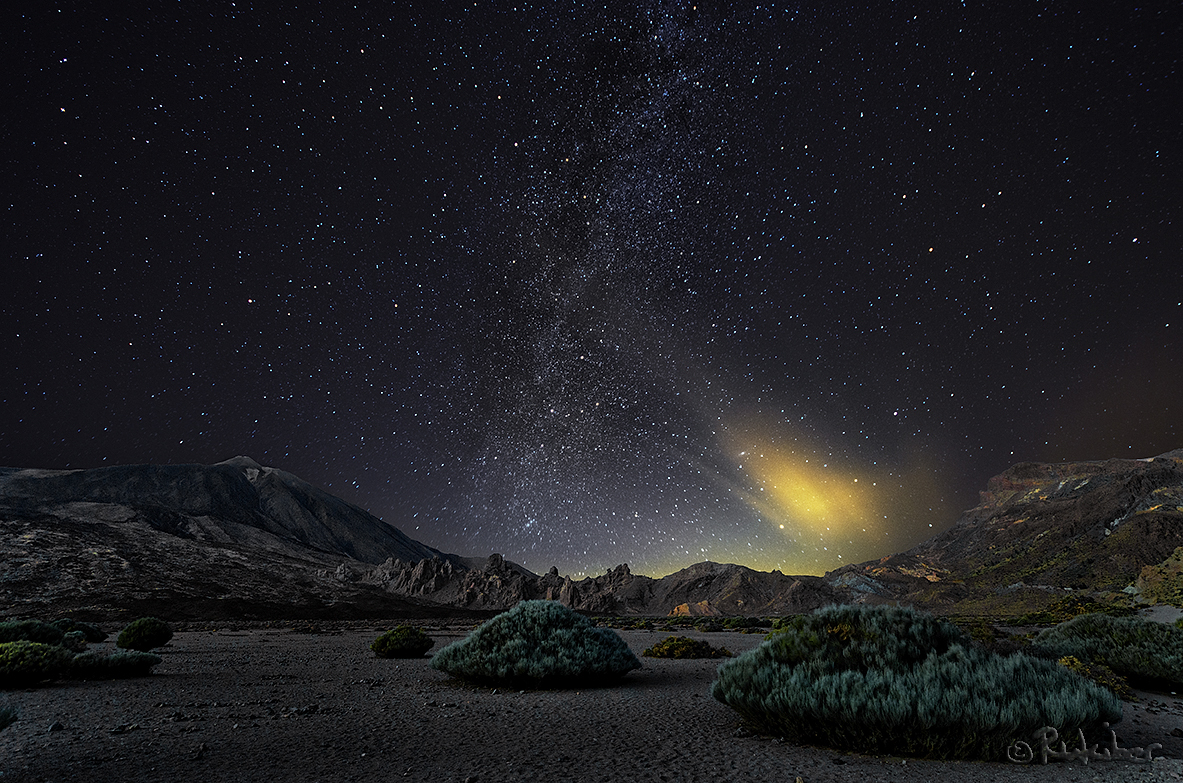 Sternenhimmel über den Teide