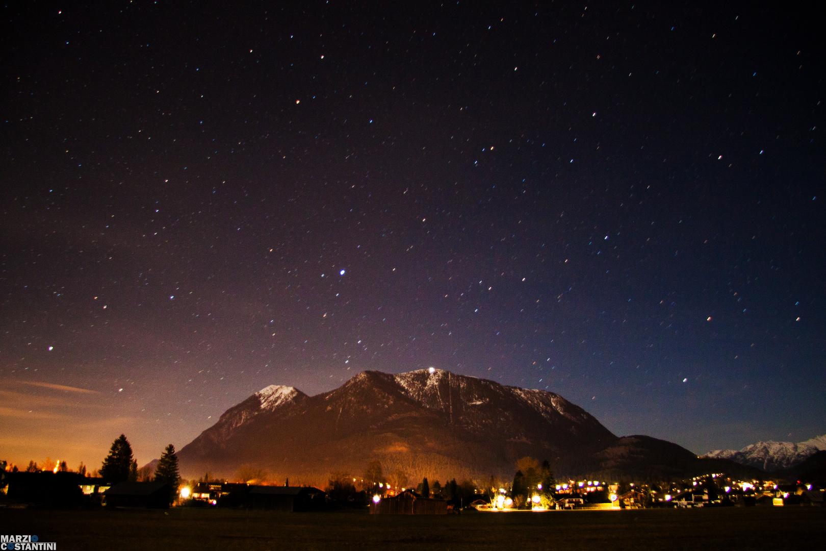 Sternenhimmel über den Wank